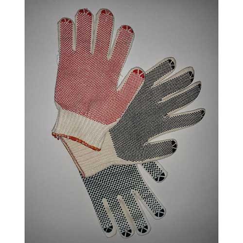 دستکش بافتنی خالدار یک رو