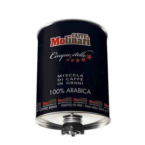 قهوه مولیناری سیلندر سه کیلویی 100 درصد عربیکا