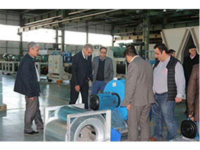 بازدید جمعی از اعضای انجمن تولیدکنندگان سیستم های تهویه مطبوع ایران از شرکت یکتا تهویه اروند