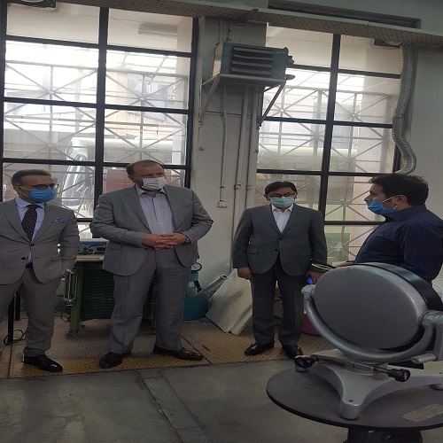 بازدید دکتر زحمتکش معاون محترم بانک آینده